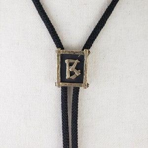 Vintage Rustic Alphabet Letter B Monogram Bolo Tie